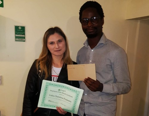 Congratulations to Lidia our March Employee of the Month!